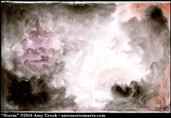 Storm, abstract art by Amy Crook