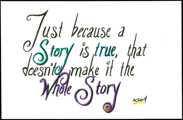 True Story, calligraphic art by Amy Crook
