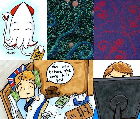 a week of fancy art and cartoons