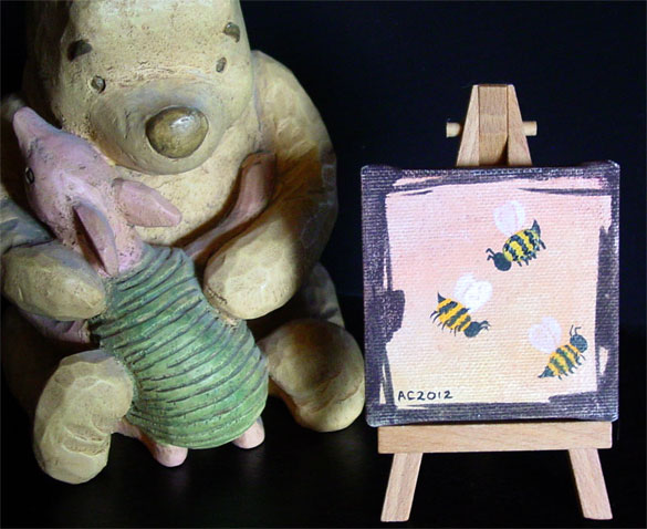 Sunset Bees with easel, by Amy Crook