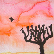 Sunset Silhouette 2, detail, by Amy Crook