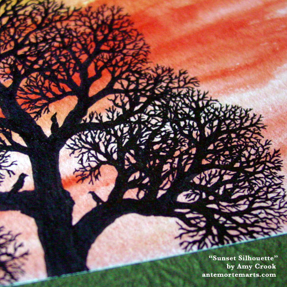 Sunset Silhouette, detail, by Amy Crook
