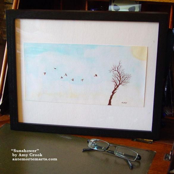 Sunshower, framed art by Amy Crook