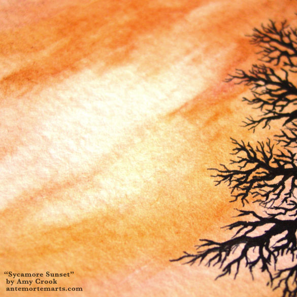 Sycamore Sunset, detail, by Amy Crook