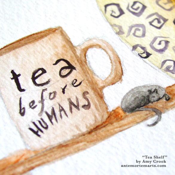 Tea Shelf, detail, by Amy Crook