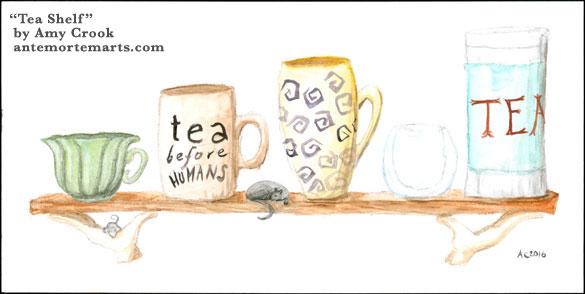 Tea Shelf by Amy Crook