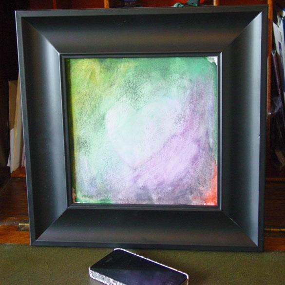 Telltale Heart, framed art by Amy Crook