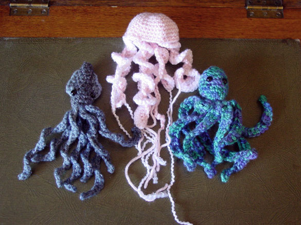 Squid, Jellyfish and Octopus, an awesome Trifecta