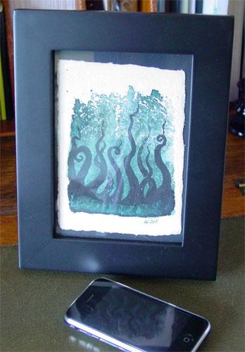 Tentacle Deeps 13, framed art by Amy Crook
