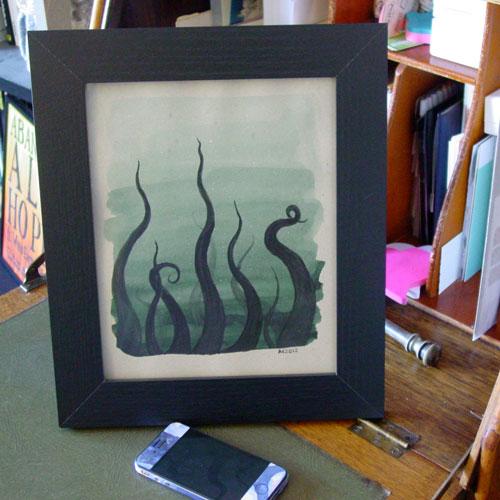Tentacle Deeps 28, framed art by Amy Crook