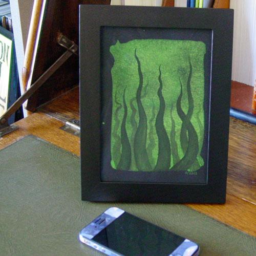 Tentacle Deeps 29, framed art by Amy Crook