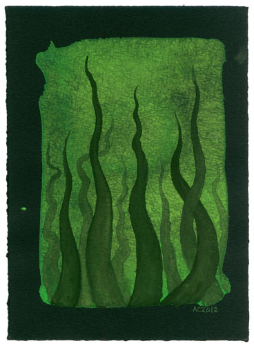 Tentacle Deeps 29, watercolor by Amy Crook