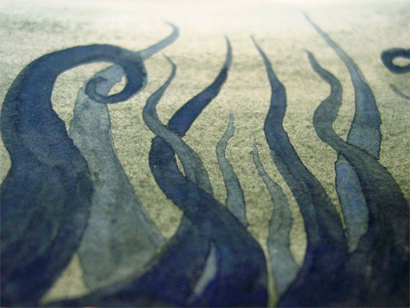 Tentacle Deeps 30, detail, by Amy Crook