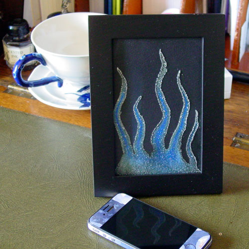 Tentacle Deeps 34, framed art by by Amy Crook