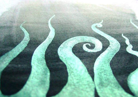 Tentacle Deeps 39, detail, by Amy Crook