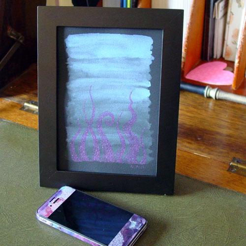 Tentacle Deeps 41, framed art by Amy Crook
