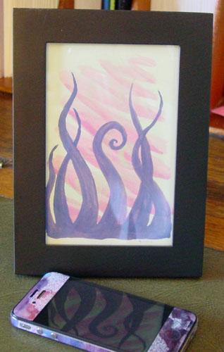 Tentacle Deeps 43, framed art by Amy Crook