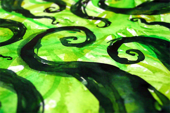 Tentacle Spiral 2, detail, by Amy Crook