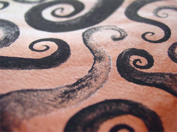 Tentacle Spiral 3, detail, by Amy Crook