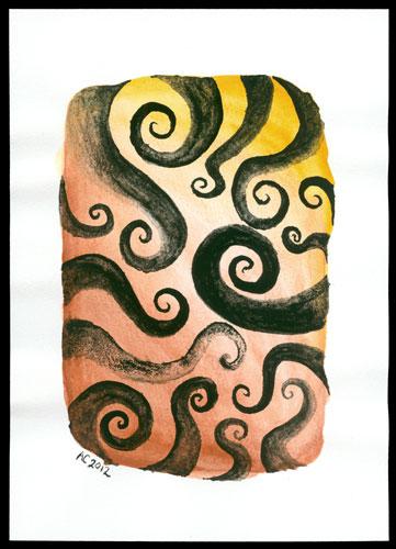 Tentacle Spiral 3, original art by Amy Crook