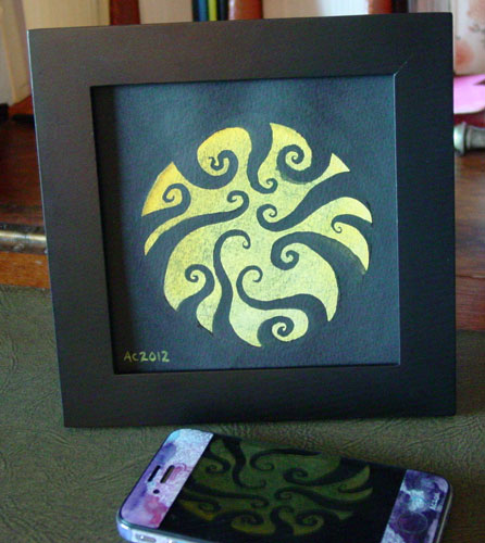 Tentacle Spiral 4, framed art by Amy Crook