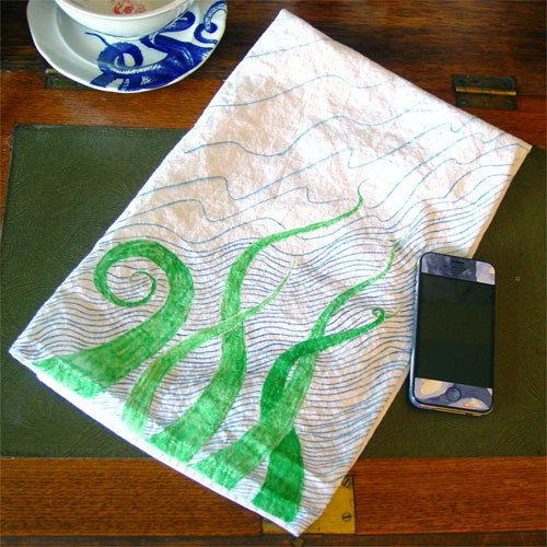 Tentacle Towel 2 by Amy Crook