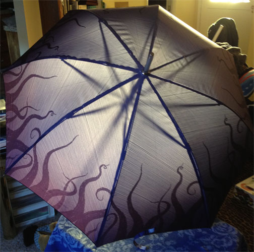 Tentacle Umbrella designed by Amy Crook