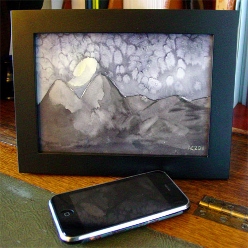 Mountains of Madness, framed art by Amy Crook