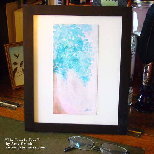 The Lovely Tree, framed art by Amy Crook