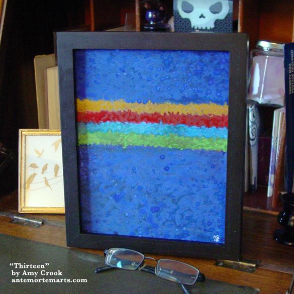Thirteen, framed art by Amy Crook