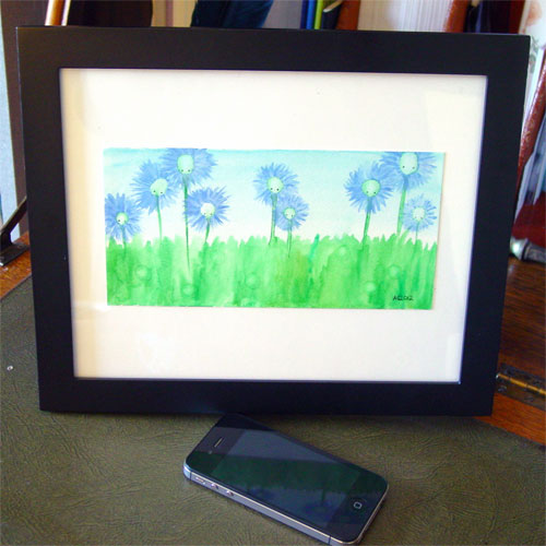 Thistledown, framed, by Amy Crook