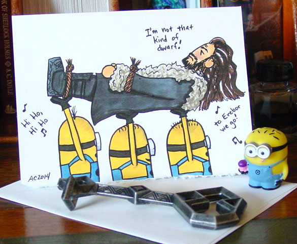 Not That Kind of Dwarf greeting card by Amy Crook on Etsy