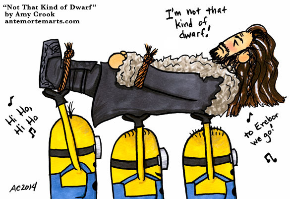 Not That Kind of Dwarf, parody comic by Amy Crook