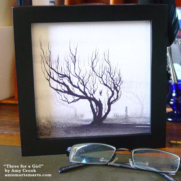 Three for a Girl, framed art by Amy Crook
