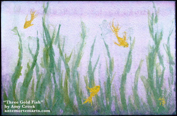 Three Gold Fish by Amy Crook