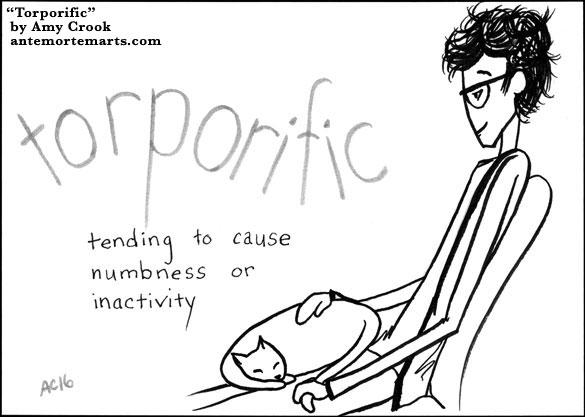 Torporific, word art by Amy Crook