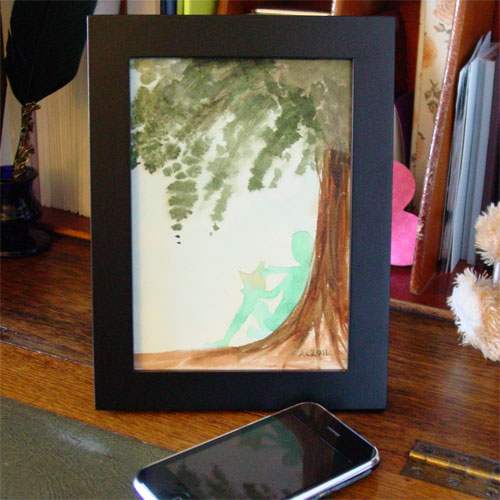 Summer Reading, framed art by Amy Crook
