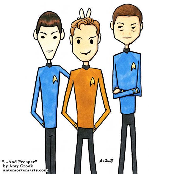 ...And Prosper, Star Trek parody art by Amy Crook