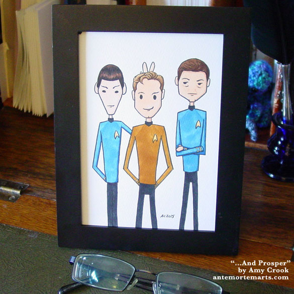 ...And Prosper, framed art by Amy Crook