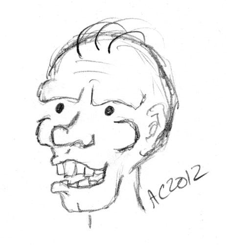 Troll sketch by Amy Crook