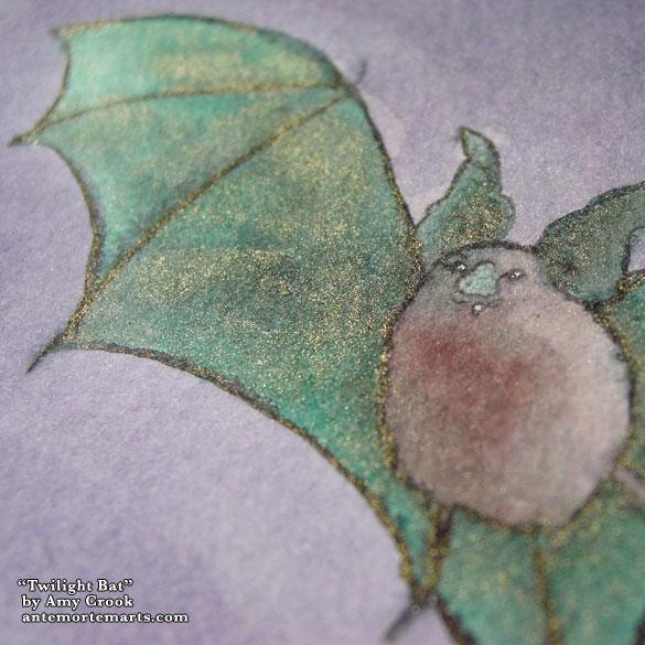 Twilight Bat, detail by Amy Crook