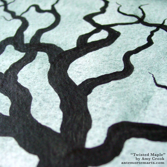 Twisted Maple, detail, by Amy Crook