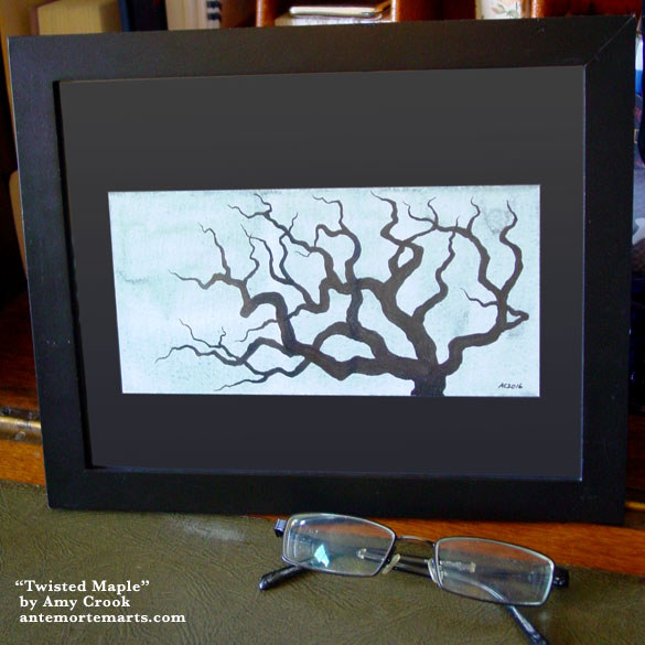 Twisted Maple, framed art by Amy Crook