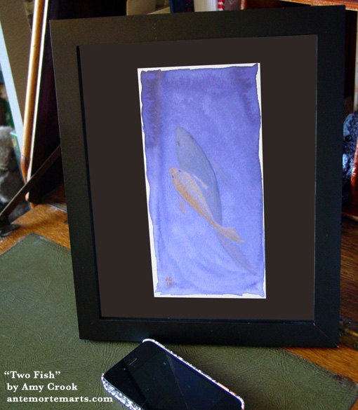 Two Fish, framed art by Amy Crook