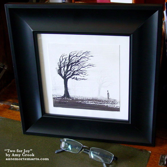 Two for Joy, framed art by Amy Crook