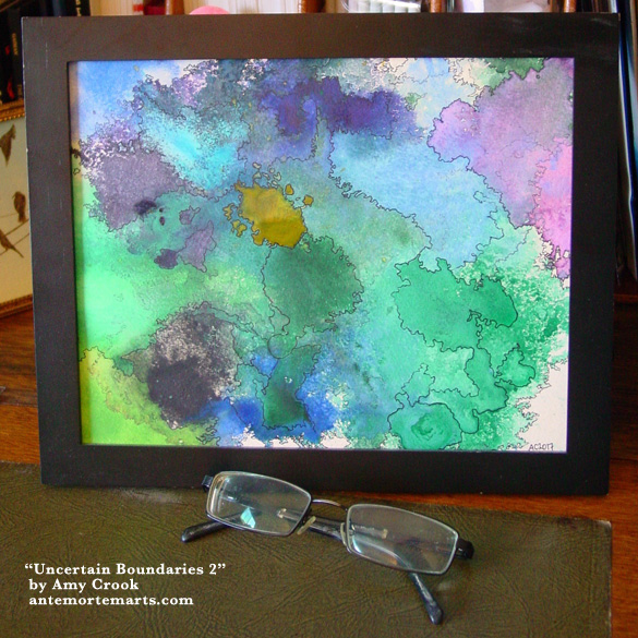 Uncertain Boundaries 2, framed art by Amy Crook