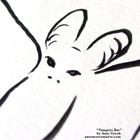 Vampire Bat, detail, by Amy Crook