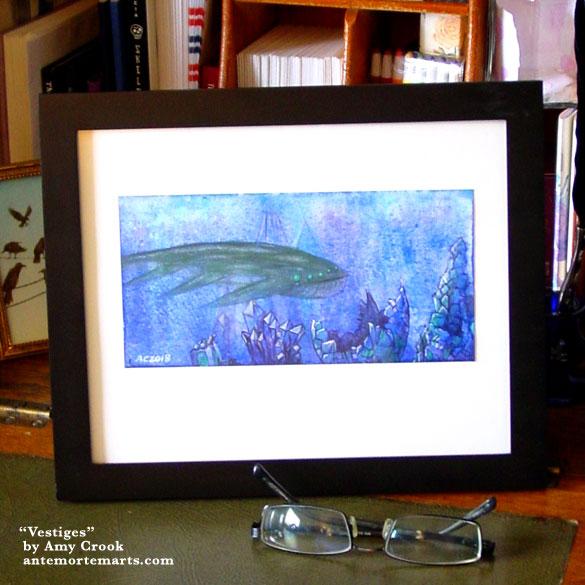 Vestiges, framed art by Amy Crook