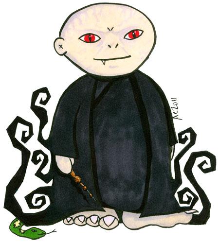 Weeble Voldemort cartoon by Amy Crook