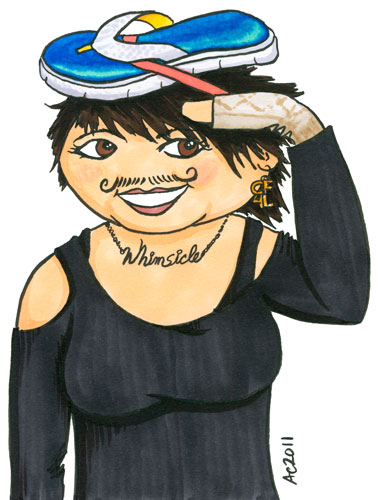 Weeble April Winchell cartoon by Amy Crook